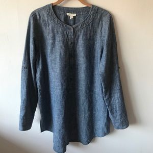 Eileen Fisher Chambray Tunic